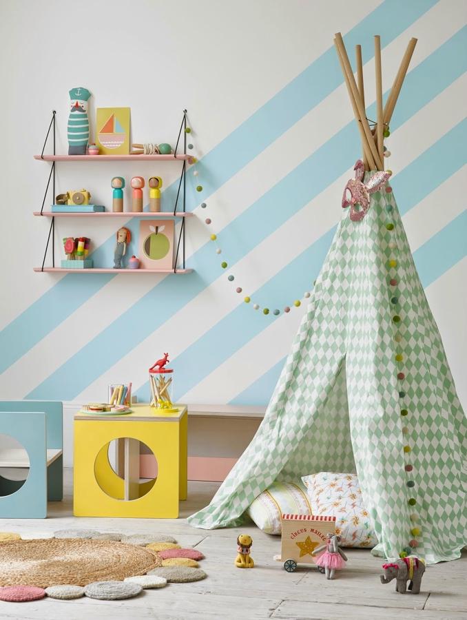 Pintura para parede de quarto infantil