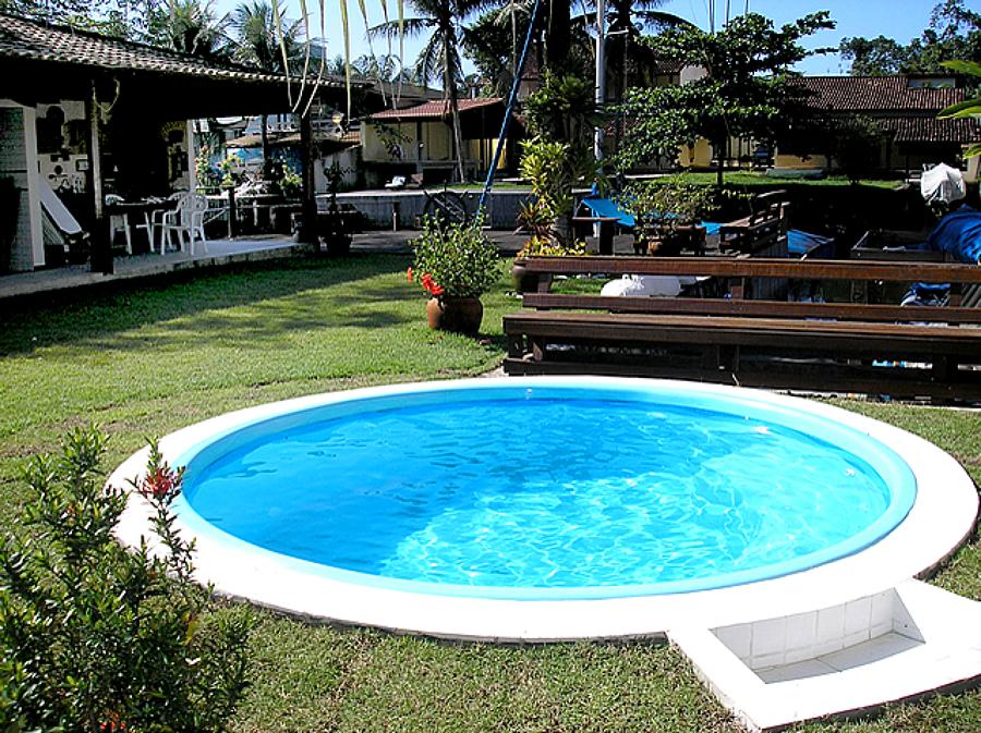 piscina de fibra pequena