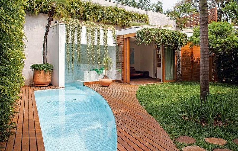 piscina pequena irregular