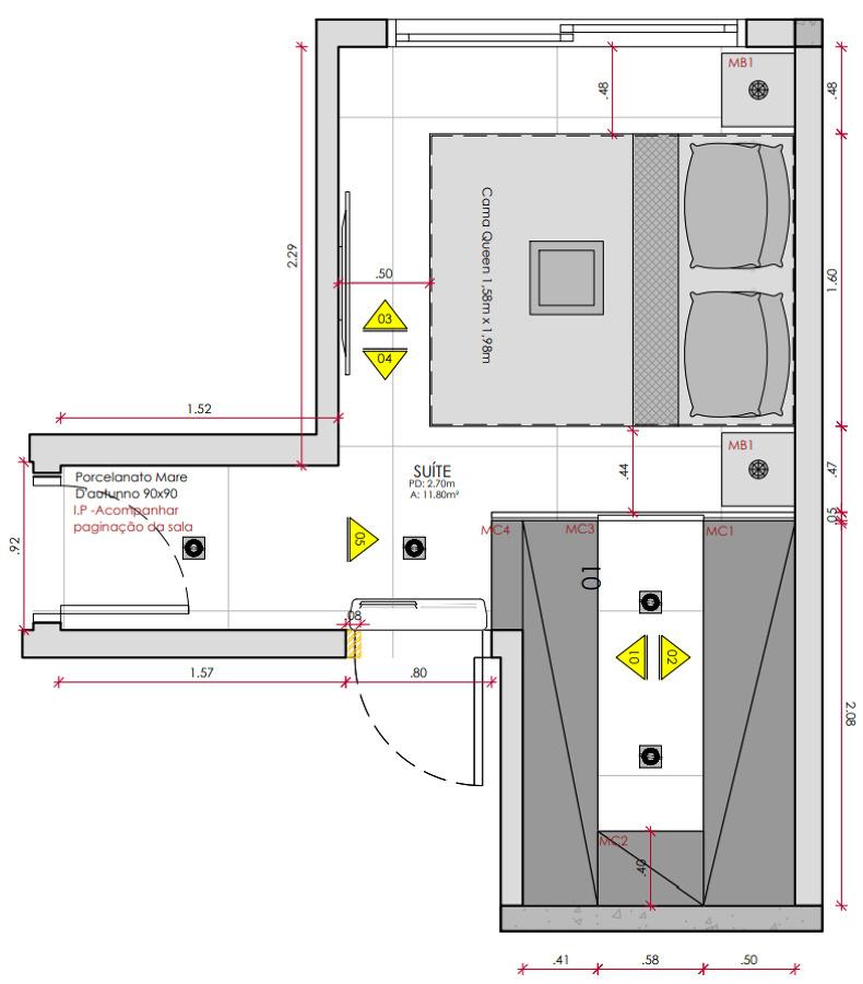 Planta Dormitório Principal