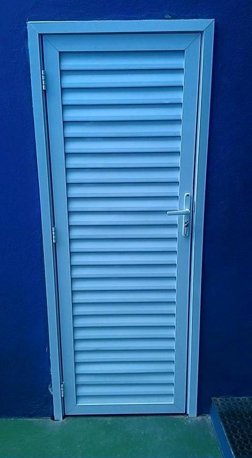 porta de aluminio palhetas