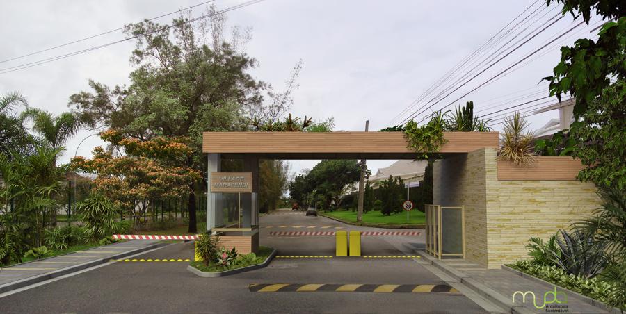 Projeto de Guarita em Condomínio de casas
