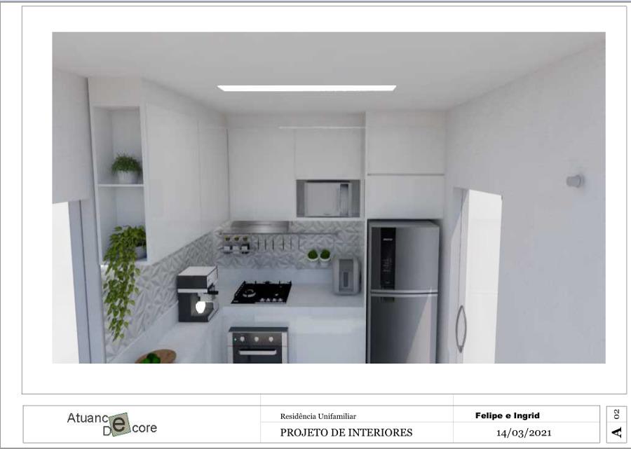 Projeto e Execução Cozinha Apartamento  Atuance Decore