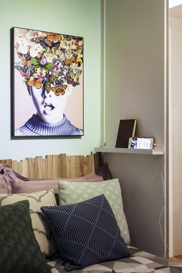 Quarto Moderno e Contemporâneo com Quadros decorativos