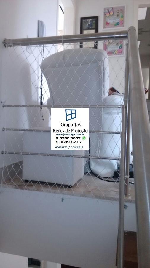 rede de proteção em vão de escada