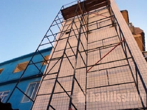 Reforma da fachada do edifício no Rio de Janeiro