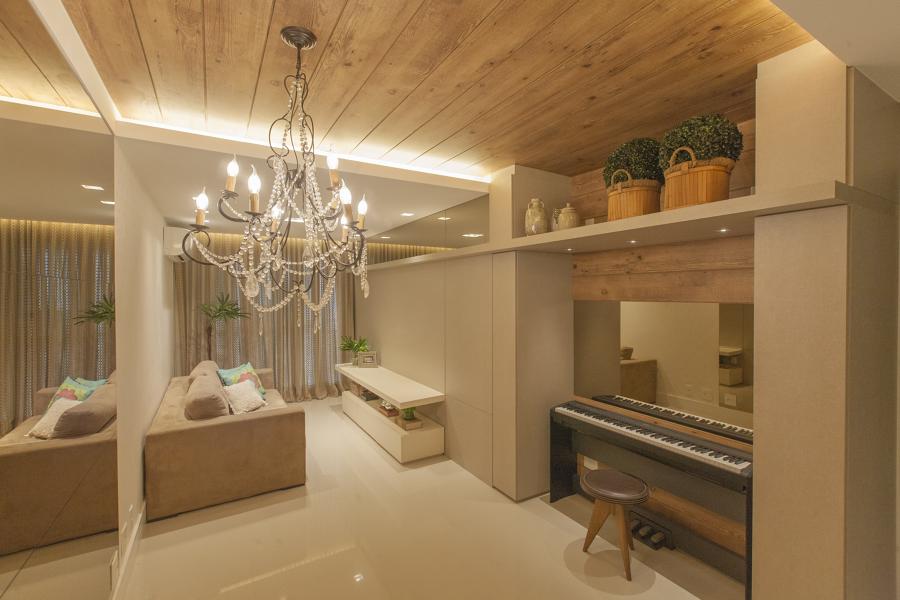 Sala de estar e piano