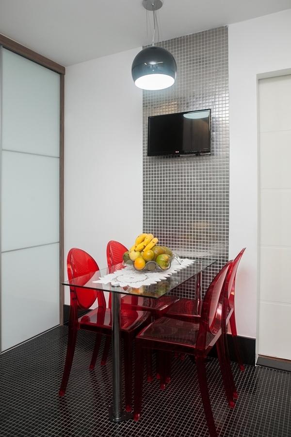 Sala de jantar compacta