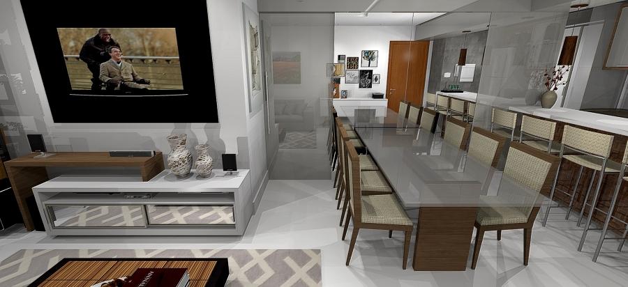 Sala de Jantar / Estar / Balcão cozinha