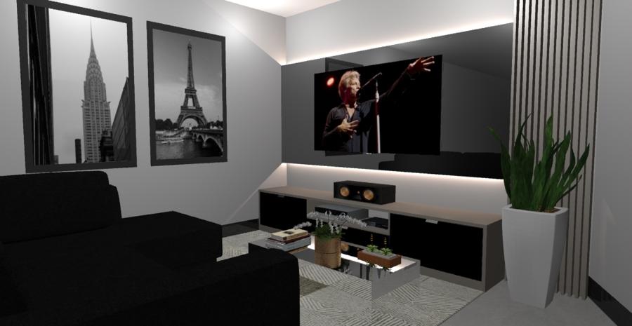 Sala  de TV painel MOVIE