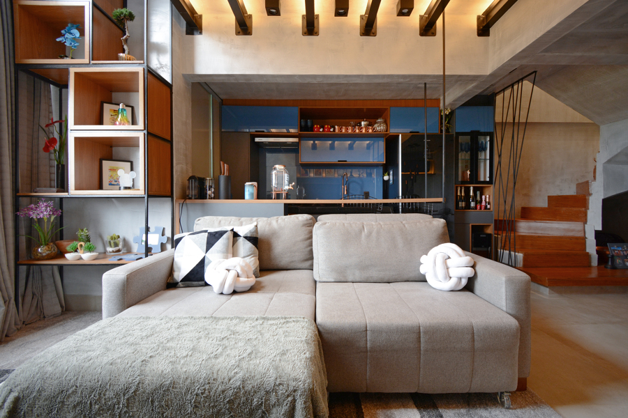Sala e Cozinha - Duplex JJR