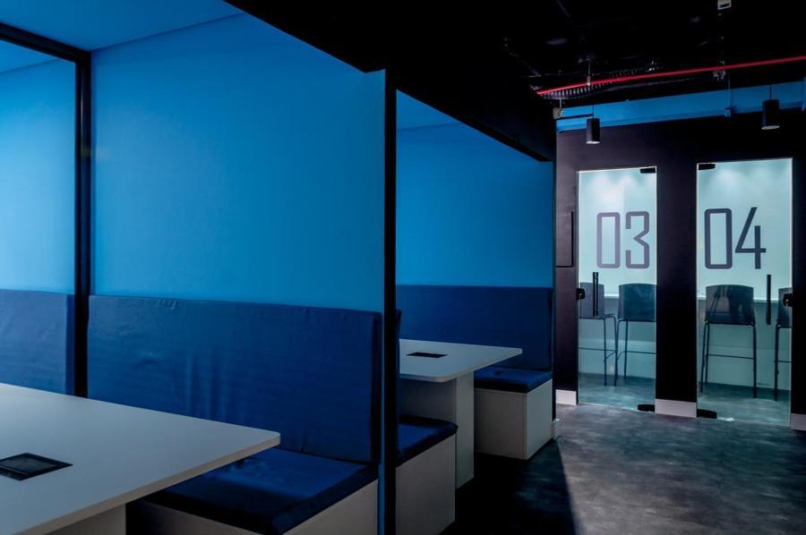 Salas de reuniões rápidas (Visão noturna)