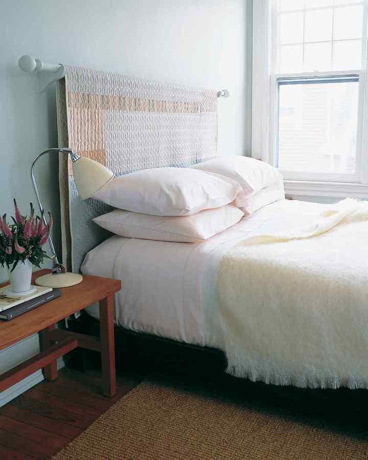 tecido na cama de casal