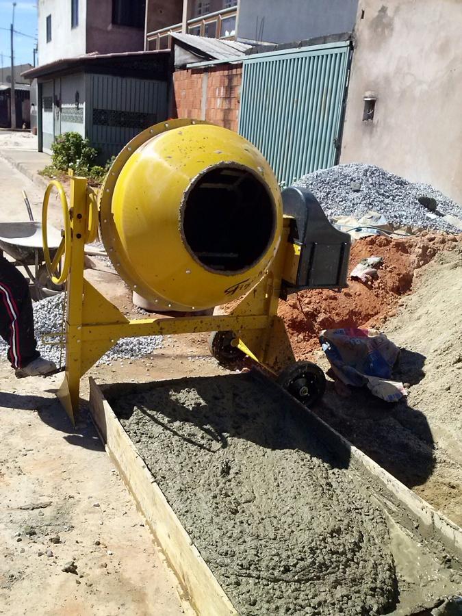 Uso de betoneira