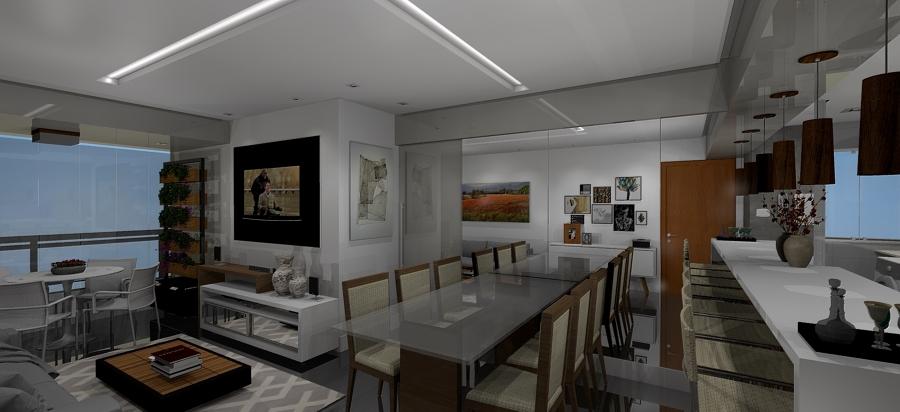 Varanda, Living e Cozinha