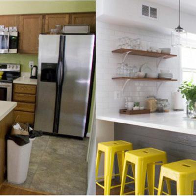 O antes e depois de 5 cozinhas