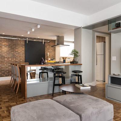 Sala/Cozinha - Apartamento Aurélio Bitencourt