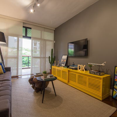 Apartamento com decoração masculina