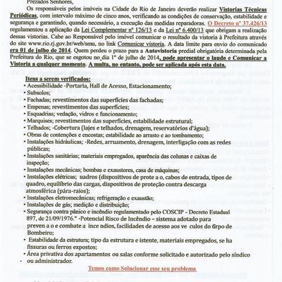 Exigências da Prefeitura do Rio de Janeiro