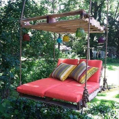 Ideias para decorar o jardim com paletes de madeira