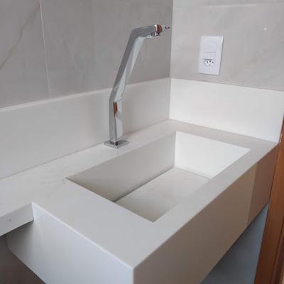 Instalação de bancada - lavatorio
