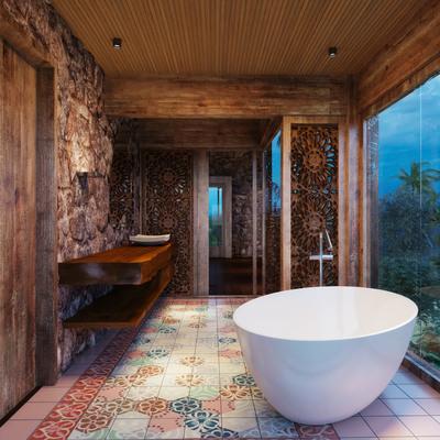 Banheiro residência Ilha do Japão - Angra dos Reis/ RJ