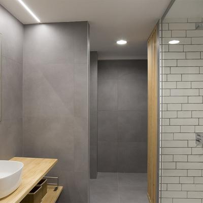 Banheiros com cimento queimado