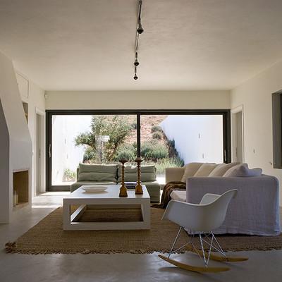 Casa de pedra, deserto da Grécia, parte interna