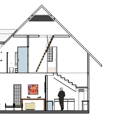 casa com construção em steel frame