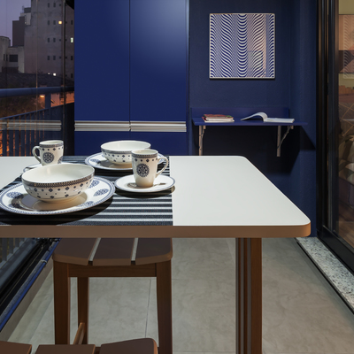 Apartamento de 35m² tem decoração moderna e ambientes integrados