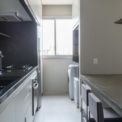 Cozinha e Lavanderia Apartamento DT