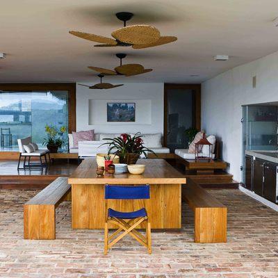 Cozinha gourmet e lounge