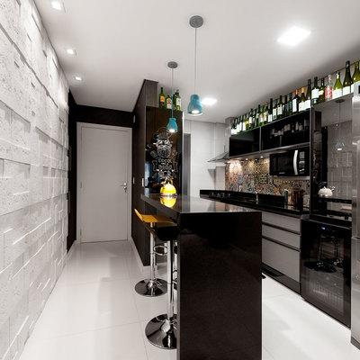 Apartamento de 80 m² decorado para um jovem empresário