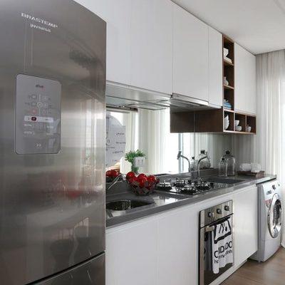 7 Ideias para cozinhas estreitas