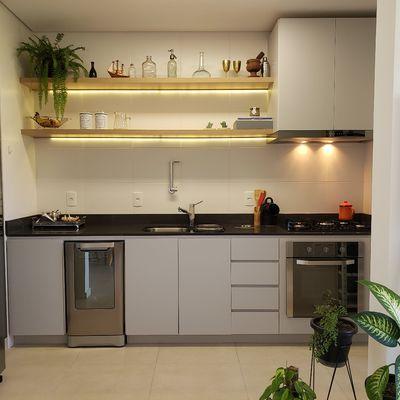 5 cozinhas pequenas com espaços bem aproveitados