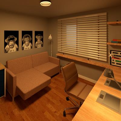Projeto quarto multiuso industrial minimalista - Americana/SP