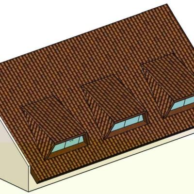 Projeto e execução de telhado com Mansardas