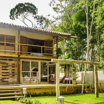 Projeto de residência com estilo rústico