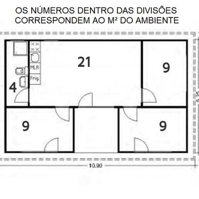 Projeto de casas com dois e três dormitórios em São Paulo