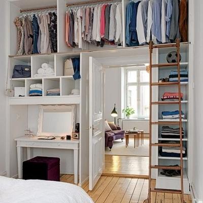 Como distribuir o quarto se você quer um closet