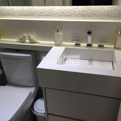Pia esculpida e reforma do Banheiro
