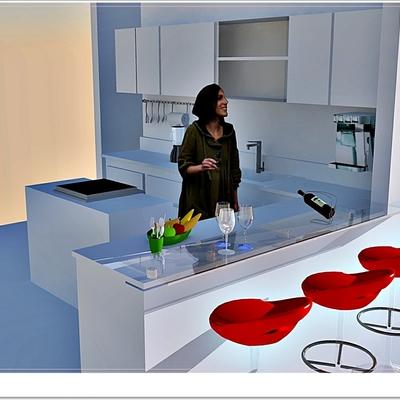Projeto de reforma e design de cozinha em residencia propria