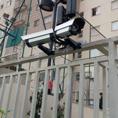 Instalação de câmeras Realizado Cond. Aguas Claras