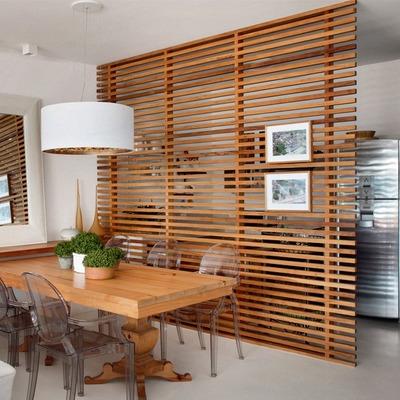 Integre ripas de madeira à decoração