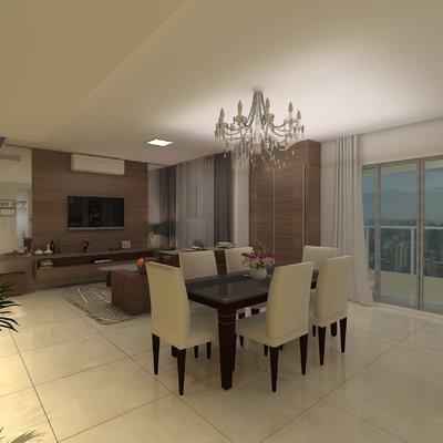 Projeto de Design Apto 102m2 - 3 Dorm.