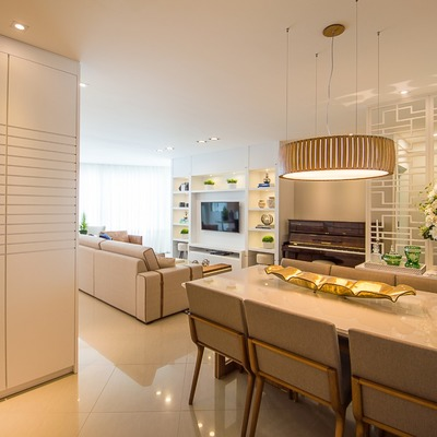 Apartamento moderno com ambientes integrados