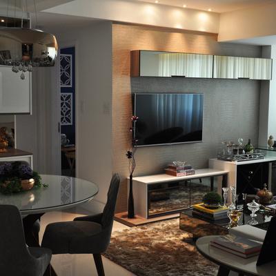APARTAMENTO DESPOJADO Projeto de 65 m² apresenta visual elegante e se destaca pela integração de ambientes e do mobiliário clean