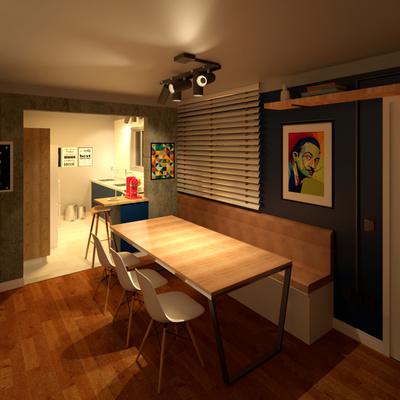 Projeto sala e cozinha industrial e minimalista - Americana/SP