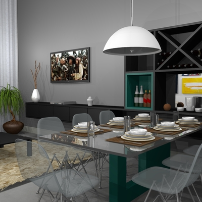 Sala Estar e Jantar