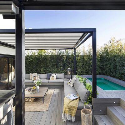 Diferentes tipos de coberturas para sua varanda ou jardim